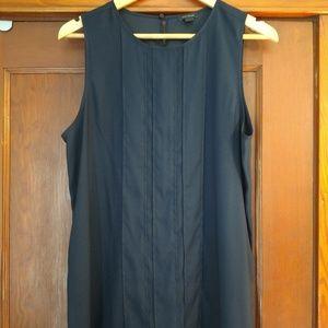 Ann Taylor long navy blue top